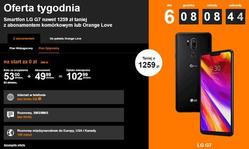 zrzut ekranu ze strony Orange