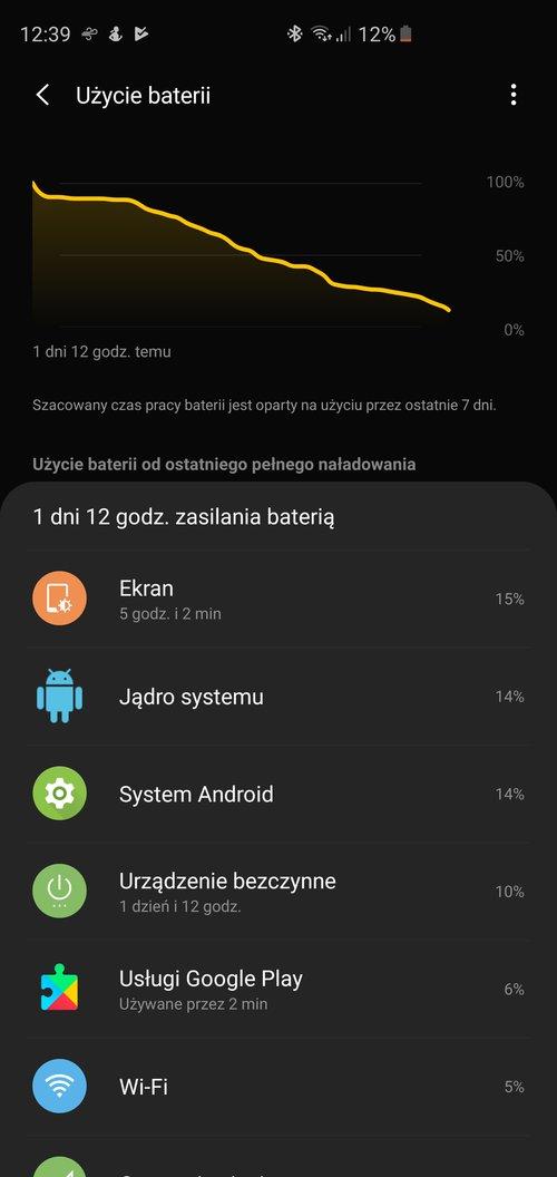 Samsung Galaxy S10+ - bateria