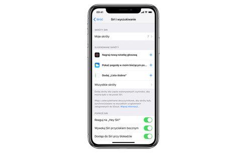Skróty Siri