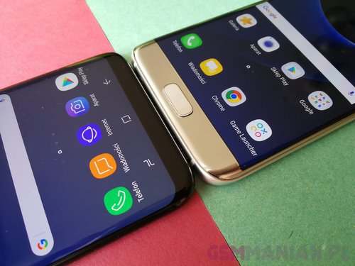 Galaxy S7 Edge i Galaxy S8+ / fot. gsmManiaK