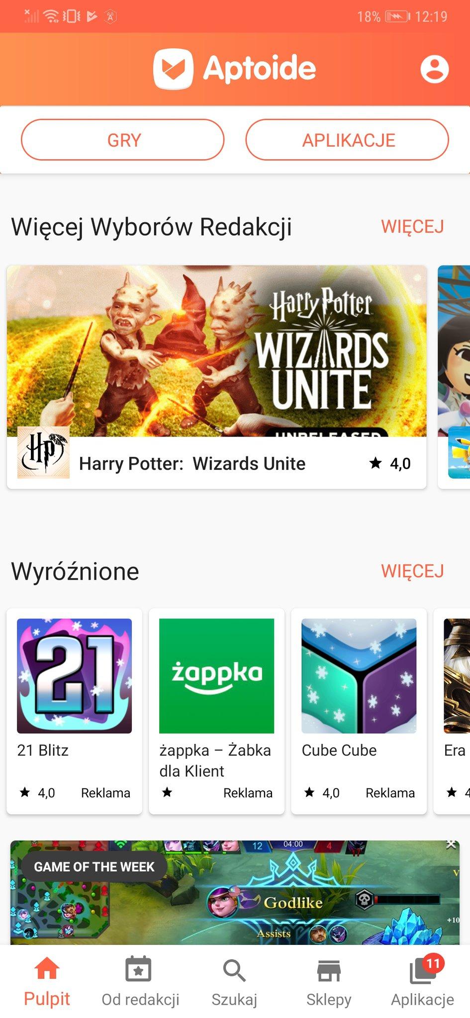 c97ce35bb9cb9c Przetestowałem zamiennik Sklepu Play na smartfonie Huawei. Aptoide ...