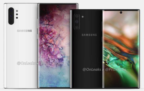 Galaxy Note 10 i Galaxy Note 10 Pro / fot. OnLeaks & PriceBaba