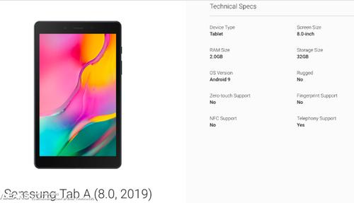 Samsung Galaxy Tab A (2019)/fot. SlashLeaks