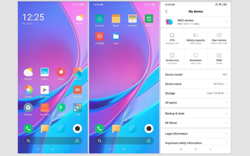 MIUI 9 Android Q