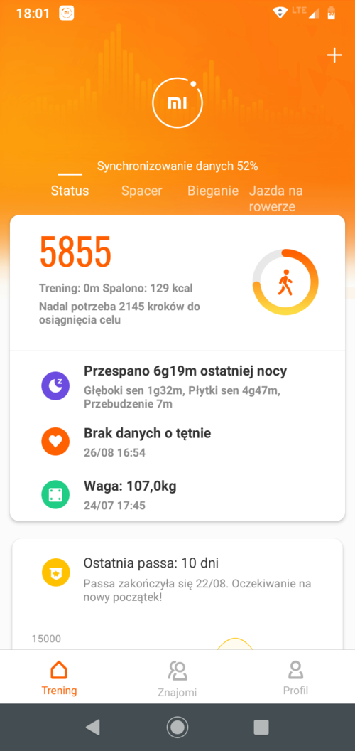 Mi Fit ekran główny / fot. techManiaK