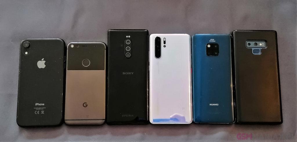 iPhone Xr, Pixel, Xperia 1, Huawei P30 Pro, Mate 20 Pro i Galaxy Note 9 / fot. gsmManiaK