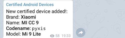 Fot. Certified Android Devices, Telegram