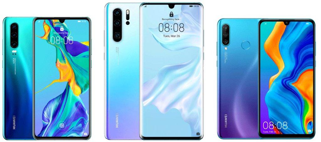 Huawei P30, Huawei P30 Pro, Huawei P30 Lite / fot.   producenta