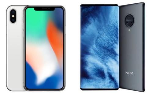 iPhone X oraz Vivo NEX 3