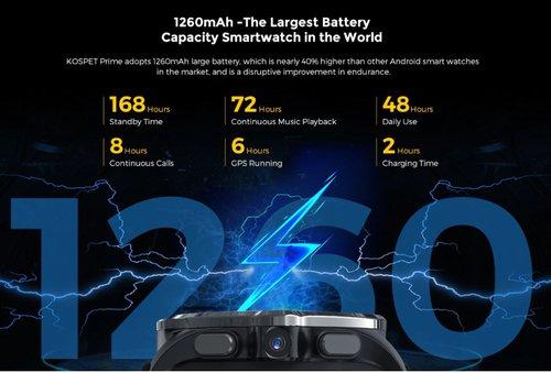 Kospet Prime: bateria / fot. Gearbest