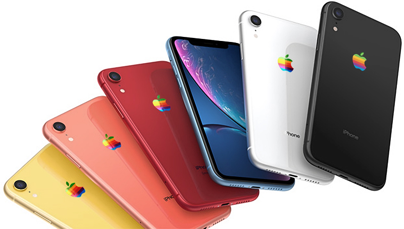 iPhone-XR-rainbow-Apple-logo-concept