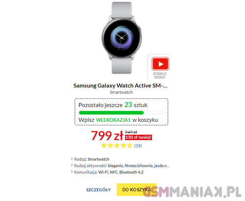 Galaxy Watch Active promocja