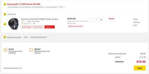 Verge Lite cena promocyjna w Gearbest / fot. Gearbest