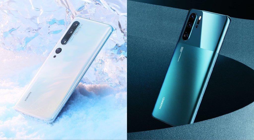 huawei p30 pro vs Xiaomi mi note 10