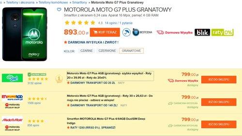 moto g7 plus cena