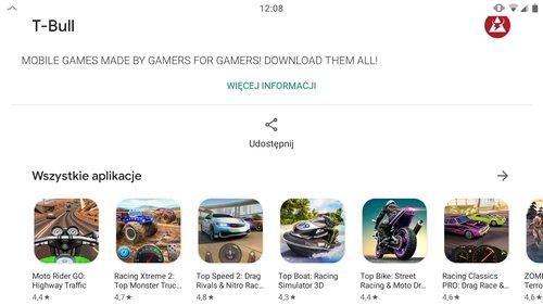 Kilka tytułów od T-Bull S.A //źródło: Play Store;