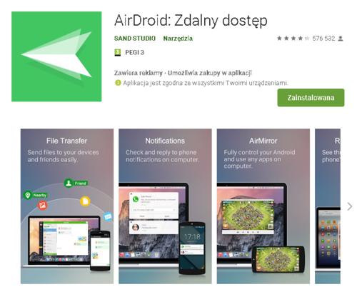 AirDroid //źródło: Google Play;