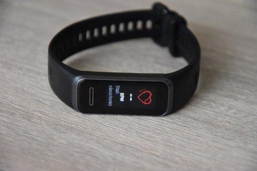 Huawei Band 4: ikona pomiaru pulsu / fot. techManiaK