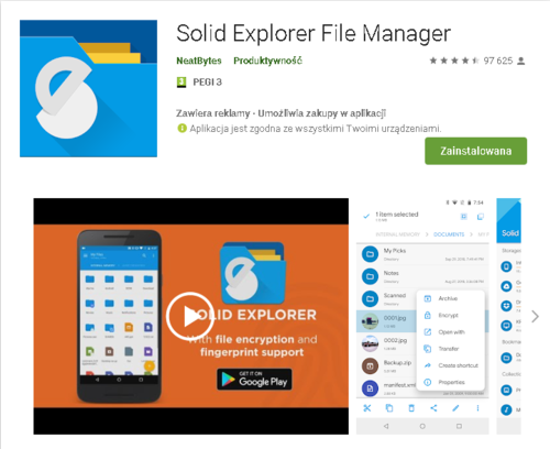 Solid Explorer //źródło: Google Play;