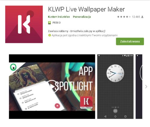 KLWP //źródło: Google Play;