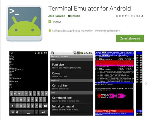 Terminal //źródło: Google Play;