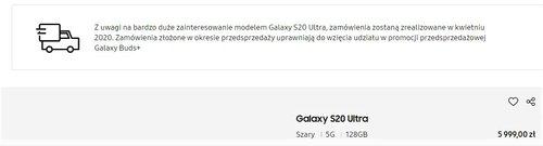 Informacja ze strony Samsung Polska