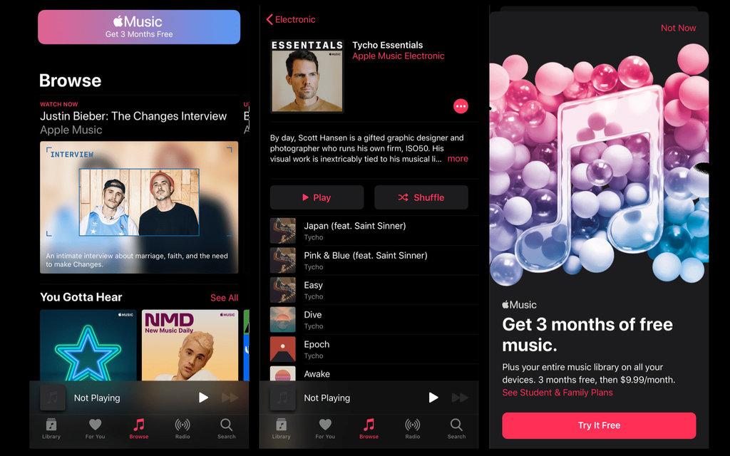 iOS 13 Reklamy