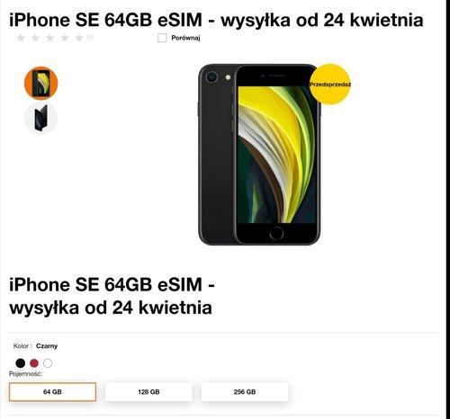 iPhone SE 2020 w Orange