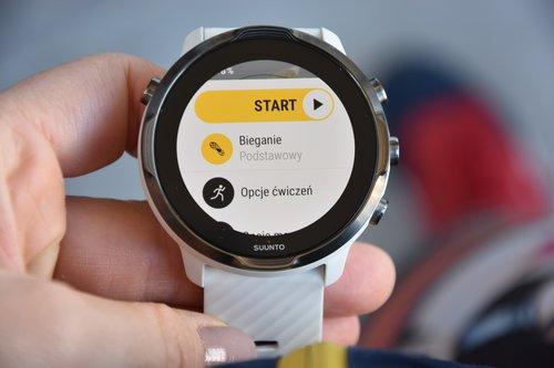 Suunto 7: przykładowy wybór treningu na zegarku / fot. techManiaK