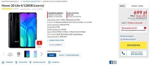 Cena Honora 20 Lite w RTV Euro AGD