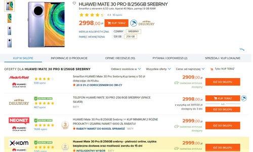 Ceny Huawei Mate 30 Pro w polskich sklepach