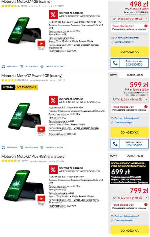 Ceny smartfonów Moto G7 w RTV Euro AGD