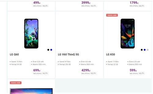 Cena LG V60 ThinQ w Play
