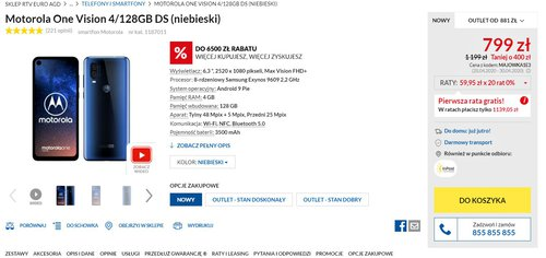 Promocyjna cena Motoroli One Vision w RTV Euro AGD