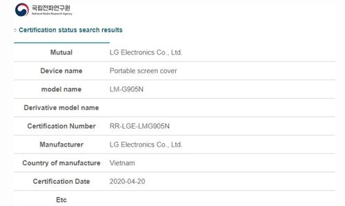 Obsługa Dual Screen i rysika w LG Velvet/fot. XDA