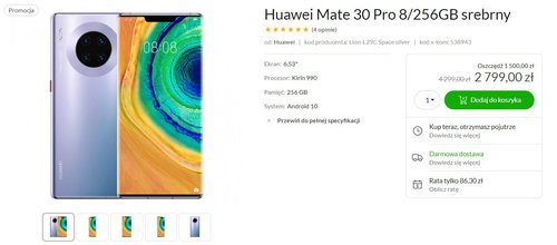 Promocja na Huawei Mate 30 Pro