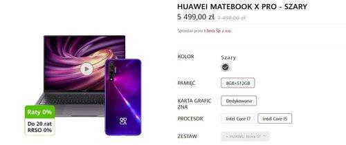 Promocja na Huawei MateBook X Pro/fot. Huawei