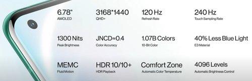 Specyfikacja ekranu OnePlus 8 Pro/fot OnePlus