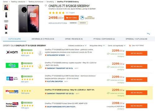 Cena OnePlus 7T w polskich sklepach