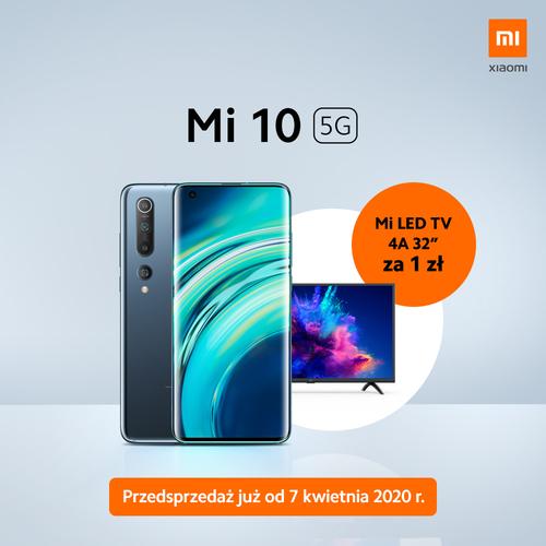 Xiaomi Mi 10 w polskiej przedsprzedaży z telewizorem / fot. Xiaomi Polska