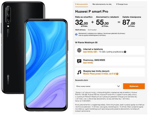 Huawei P smart Pro Orange