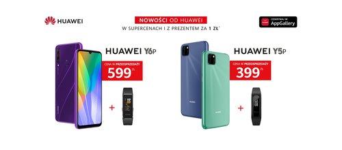 Huawei Y6p i Huawei Y5p w polskiej przedsprzedaży / fot. Huawei Polska