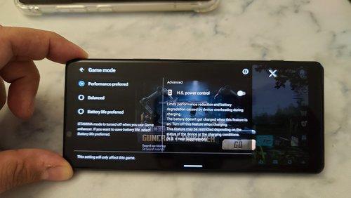 H.S. Power Control na Sony Xperia 1 II / fot. XDA