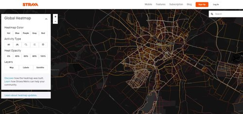 Strava Heat Map / fot. Strava