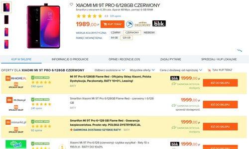 Ceny Xiaomi Mi 9T Pro w sklepach