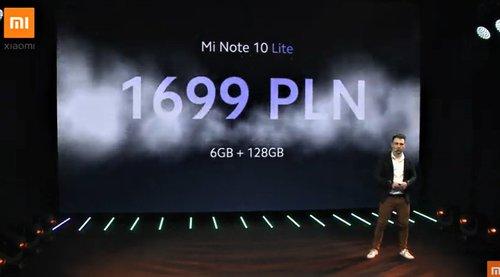 Polska cena lepszej wersji Xiaomi Mi Note 10 Lite