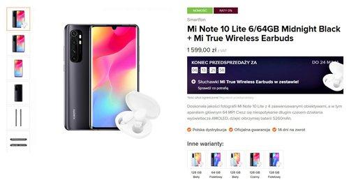 Xiaomi Mi Note 10 Lite w polskiej przedsprzedaży w Mi-home.pl