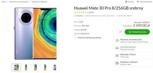 Promocyjna cena Huawei Mate 30 Pro w x-kom jest najlepsza na rynku
