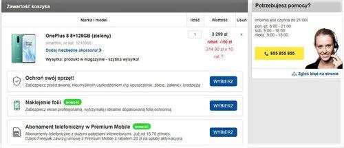 Promocyjna cena OnePlus 8 w RTV Euro AGD