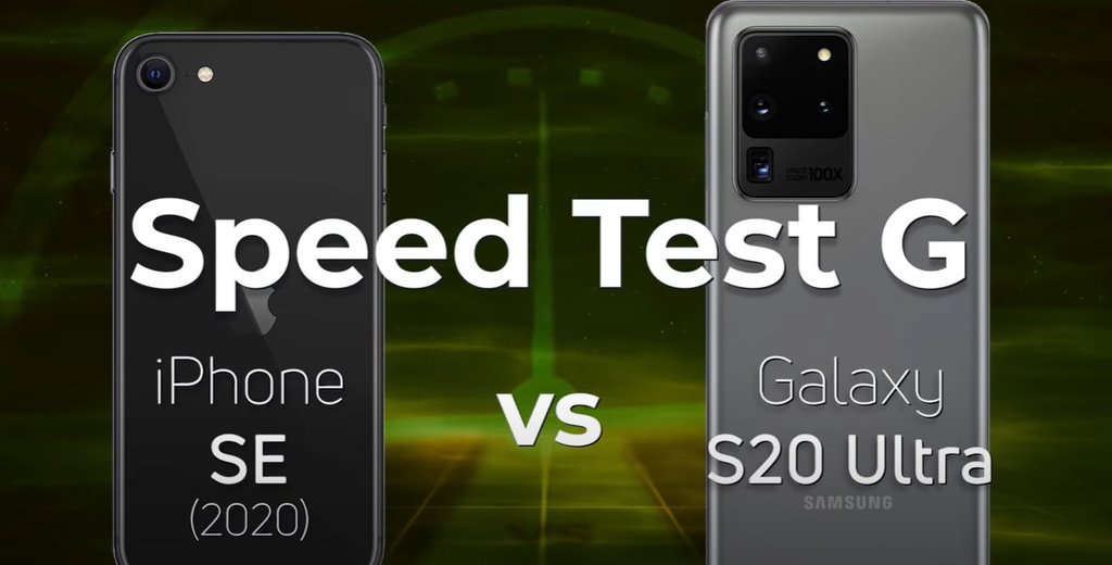 iPhone SE i S20 Ultra w teście szybkości/fot. SpeedTest G
